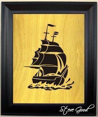 Sailing Ship Scroll Saw Pattern  Sailing Ship