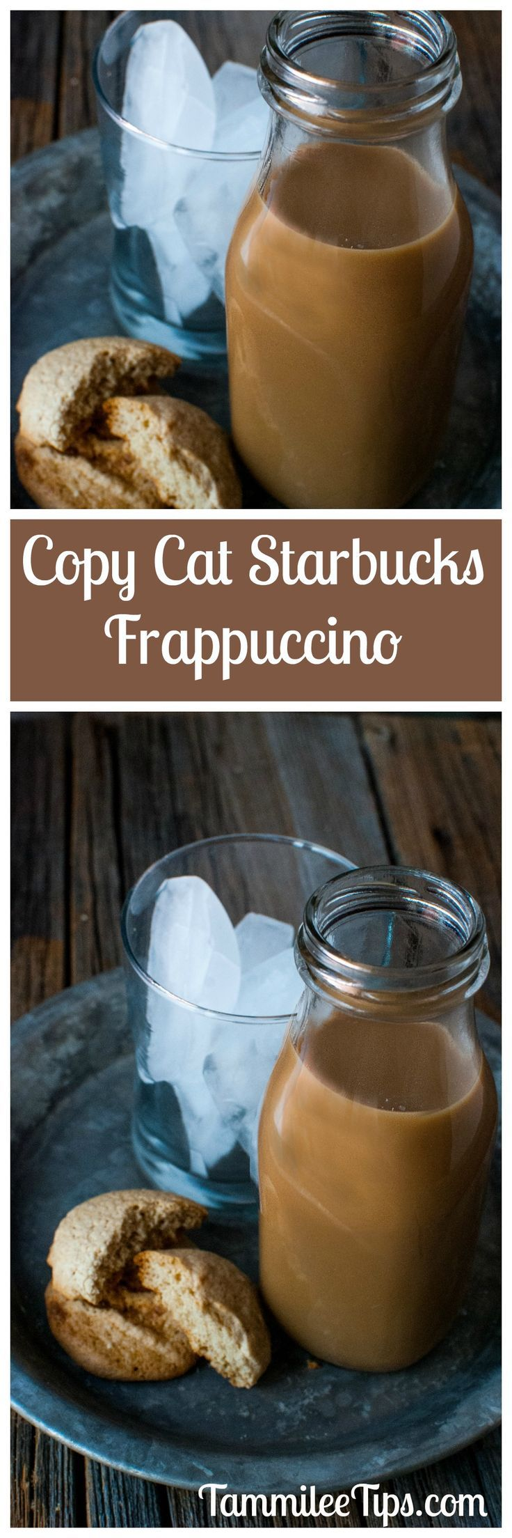 Save money by making this Copy Cat Starbucks Frappuccino Recipe at home! So easy to make and a great copycat coffee drink and sweet treat!  via @tammileetips