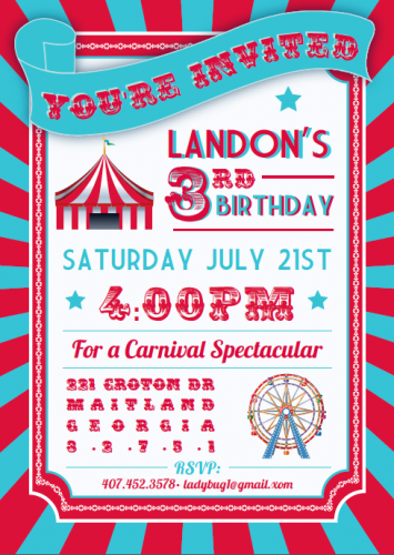 download circus themed birthday party