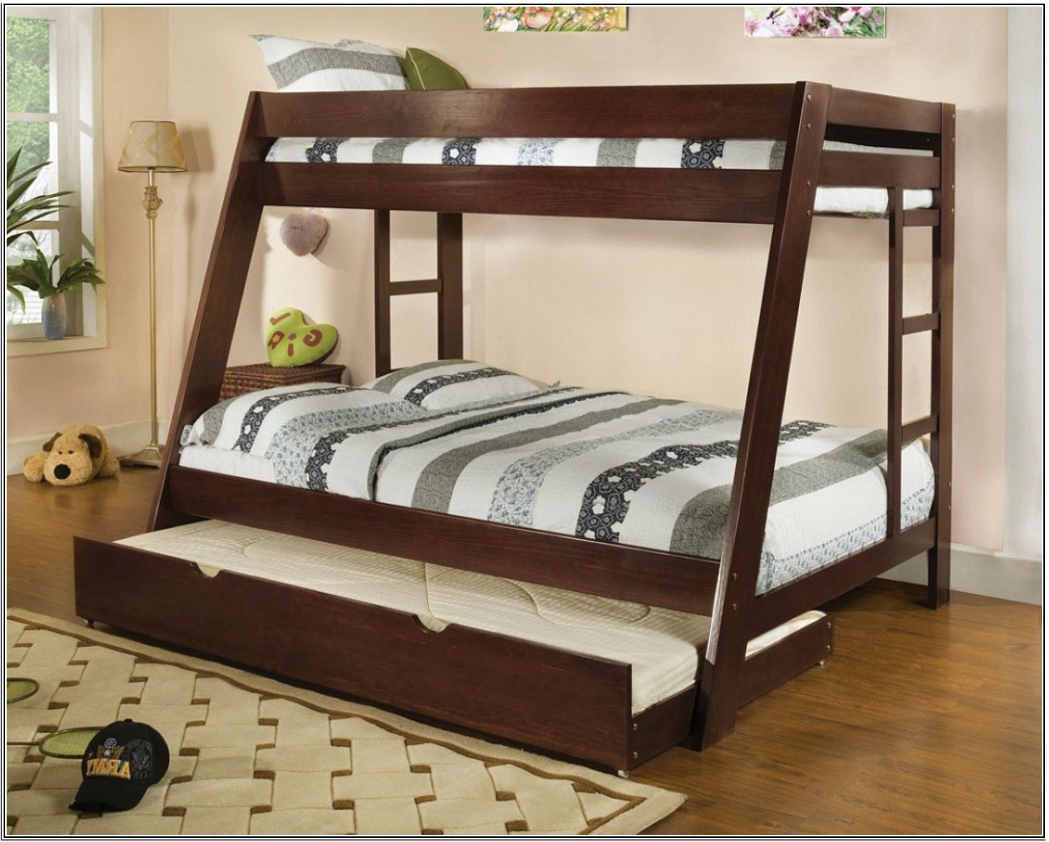 wood double deck bed designs for boys in navy blue bedroom home of
