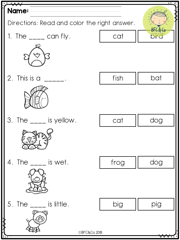 Kindergarten Read and Write Freebie Kindergarten reading