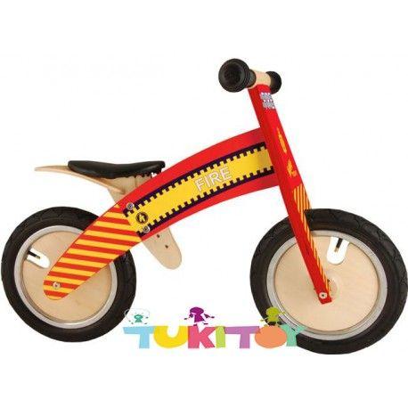 Bicicleta aprendizaje de madera Kiddimoto Kurve Fire #Kiddimoto  #bicicletas #sinpedales de madera #Kiddimoto son perfectas para el #aprendizaje. Estas #bicicletas desarrollan la #motricidad gruesa, el sentido del #equilibrio y la #coordinación. Les enseña a controlar el espacio aumentando su autoconfianza y #seguridad. Fabricada en madera resistente y ligera a la vez permitirá al #niño desplazarse sin mayor dificultad, el sillín es regulable a distintas alturas