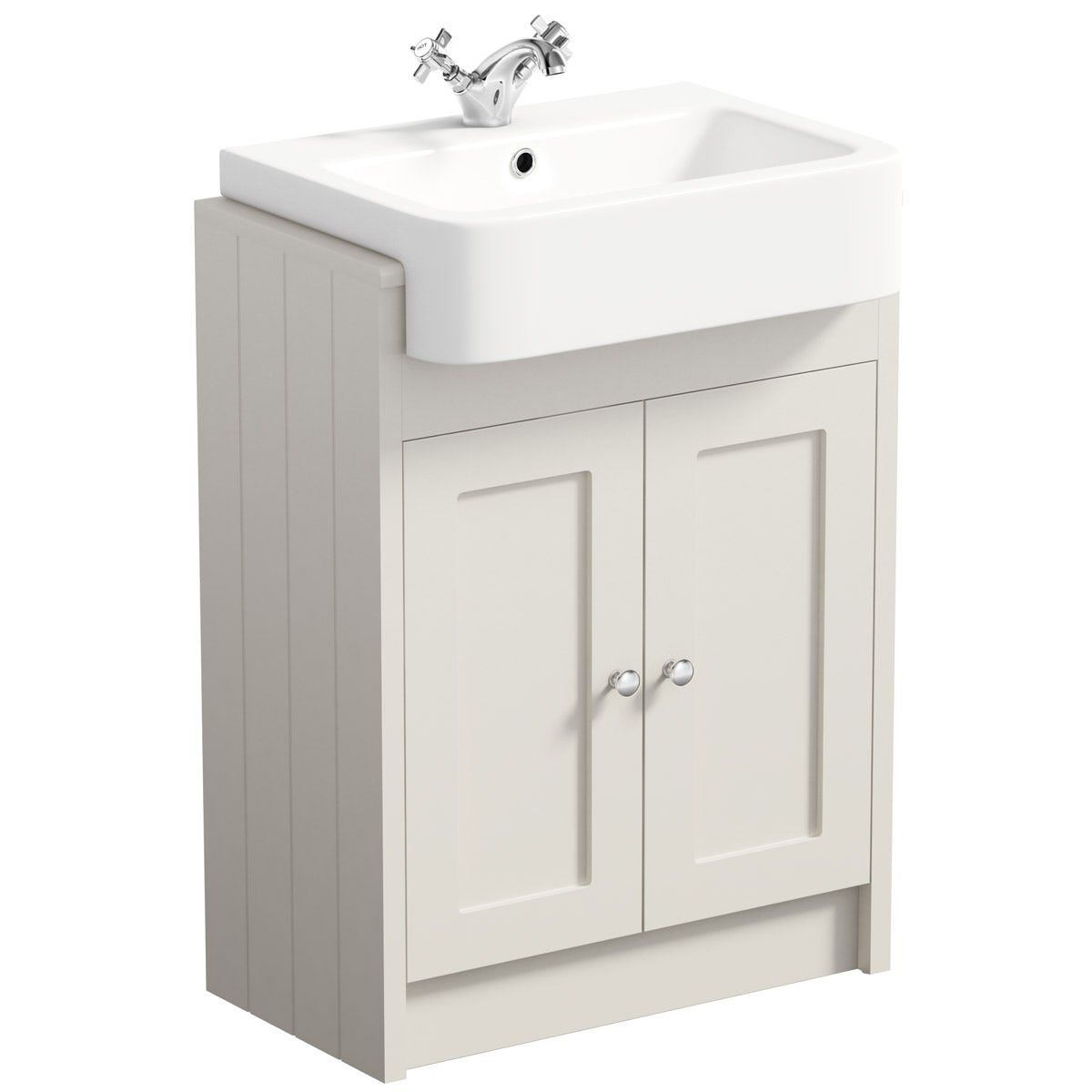 The Bath Co Dulwich Stone Ivory Floorstanding Vanity Unit With Semi Recessed Basin 600mm With Images Bathroom Vanity Units Vanity Units Vanity