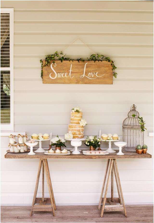 Wedding Party Ideas Rustic Dessert Table Wedding Candy Wedding Table