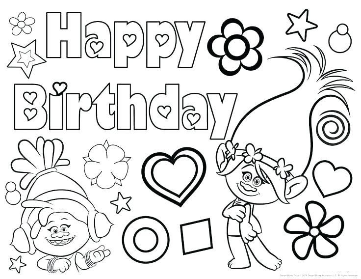 coloring pages of happy birthday happy birthday coloring