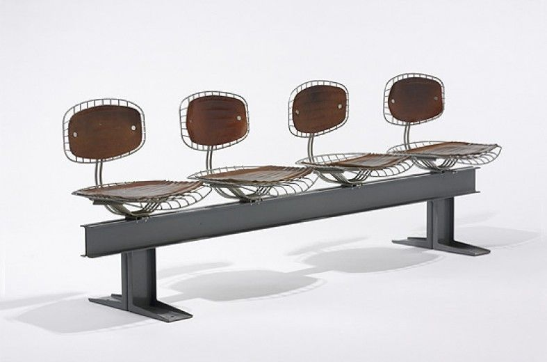 Beaubourg Trellis seating by Michel Cadestin and Georges Laurent designed for Centre George Pompidou, France 1977.