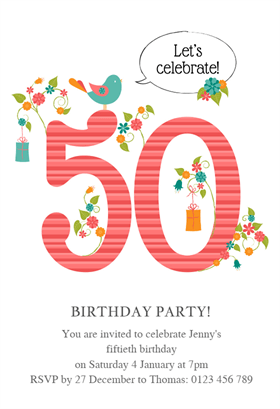 Womens 50th Elegant Birthday
