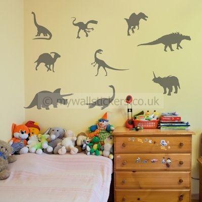Dinosaur wall stickers   Kid\'s room   Pinterest   Dinosaur wall ...