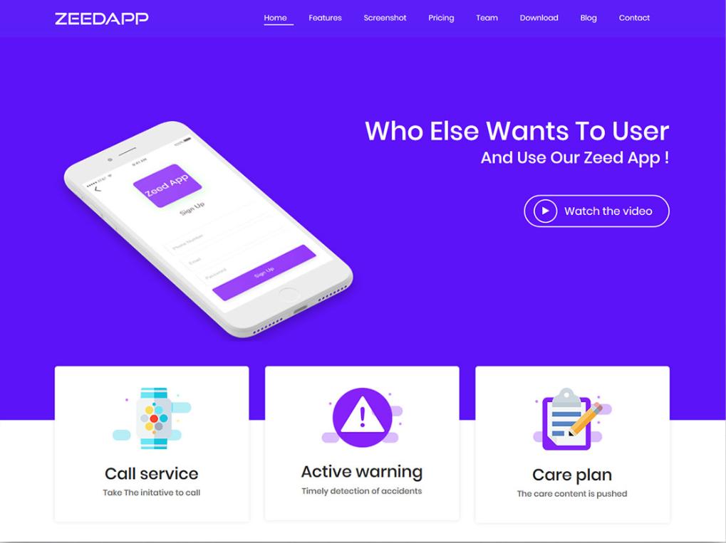 Free Phone App Landing Page Html Template App Landing Page Blog Website Inspiration Best Website Templates