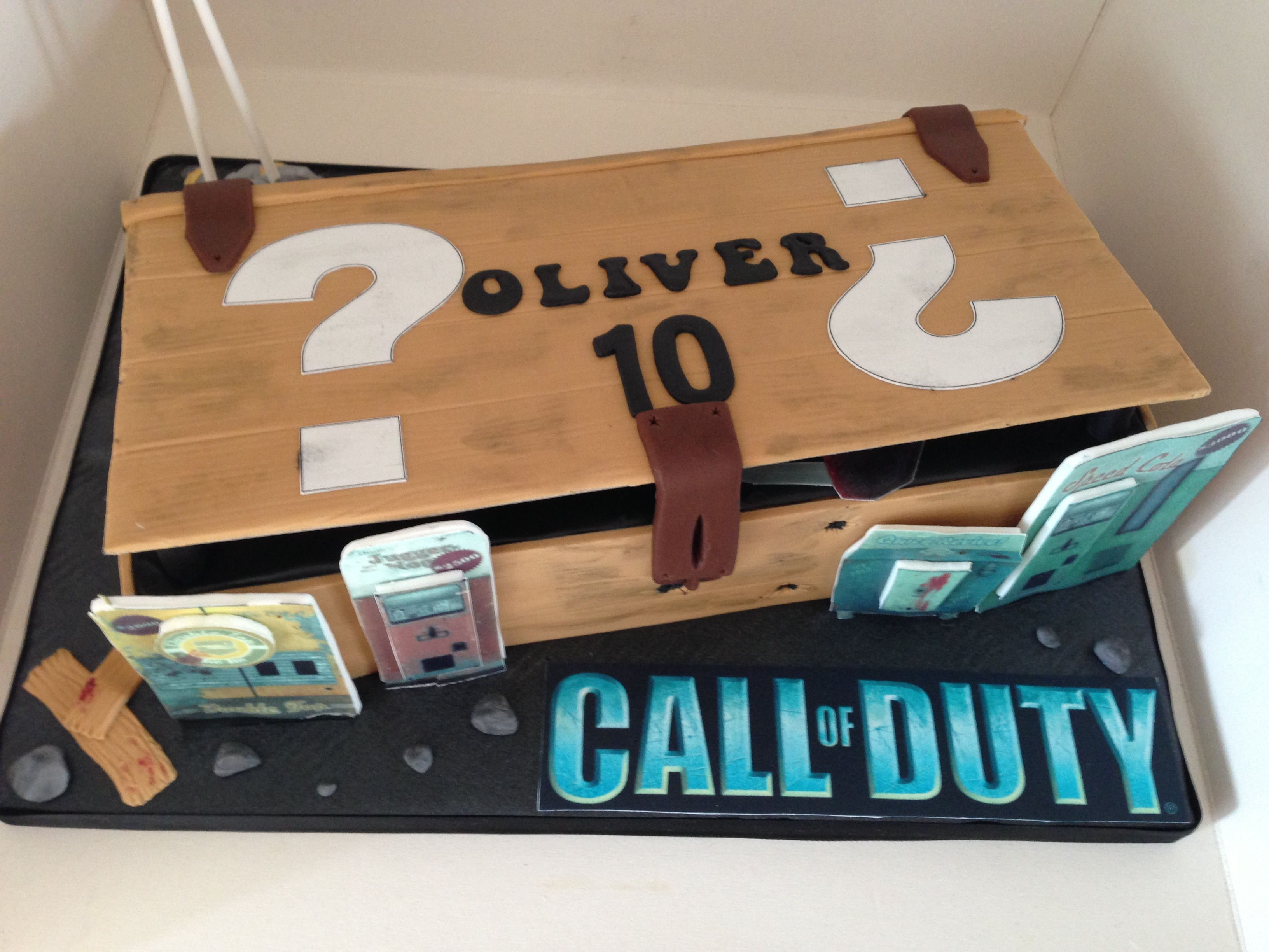 call of duty black ops, mystery box cake | for zak | pinterest