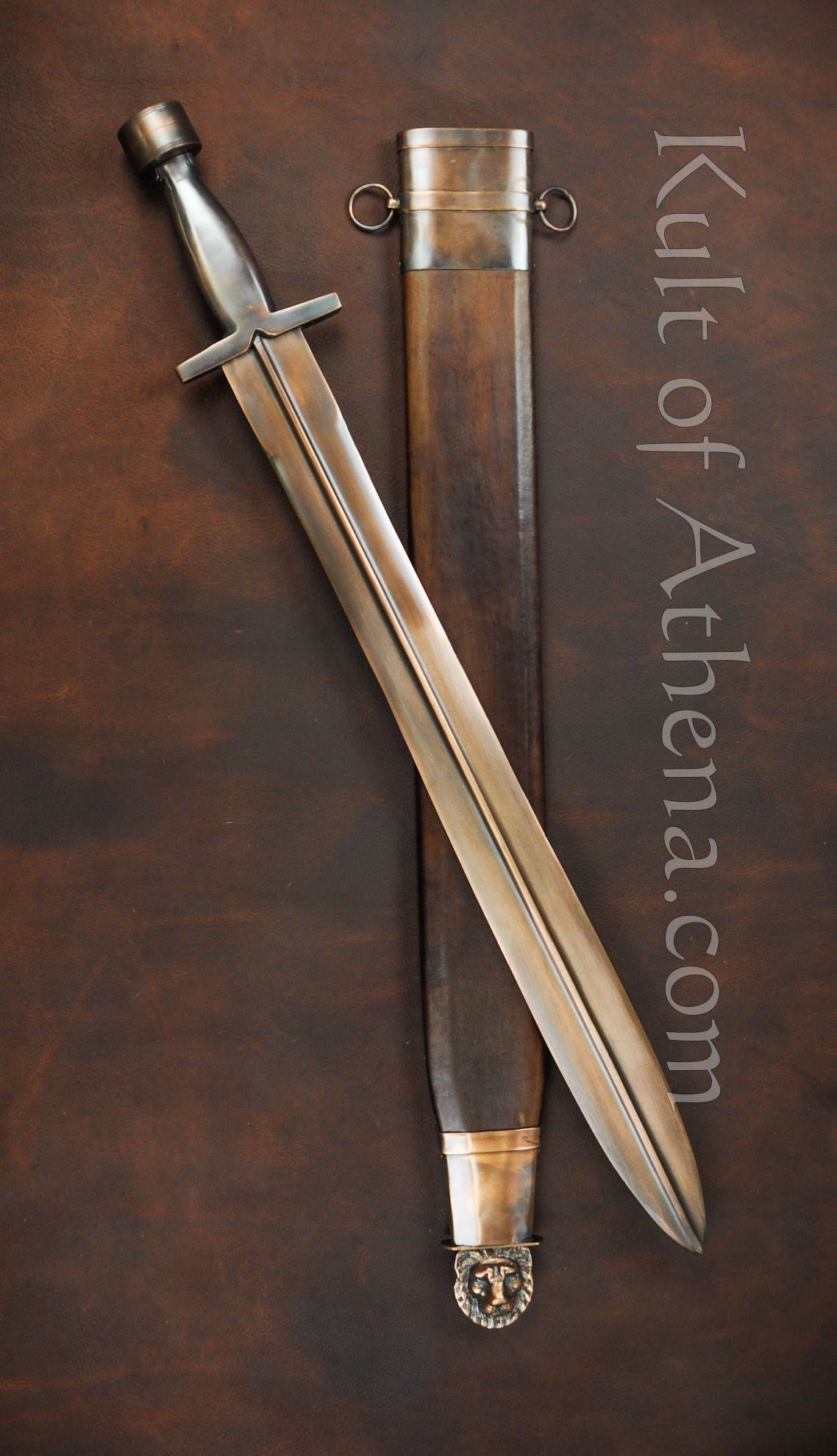 Greek Xiphos Sword with Bronzed Finish, what a beautiful ... Ancient Greek Sword Xiphos