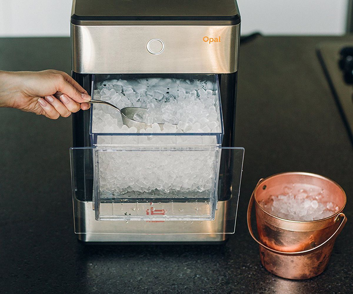 Opal Nugget Ice Maker Makes Soft Chewable Crunchy Ice Cubes Nugget Ice Maker Ice Maker Machine Sonic Ice