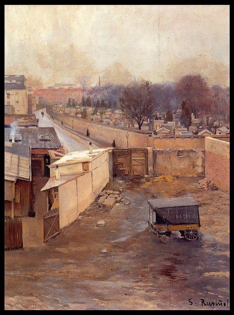 Santiago Rusiñol. Cementerio de Montmartre. 1889-90 ?