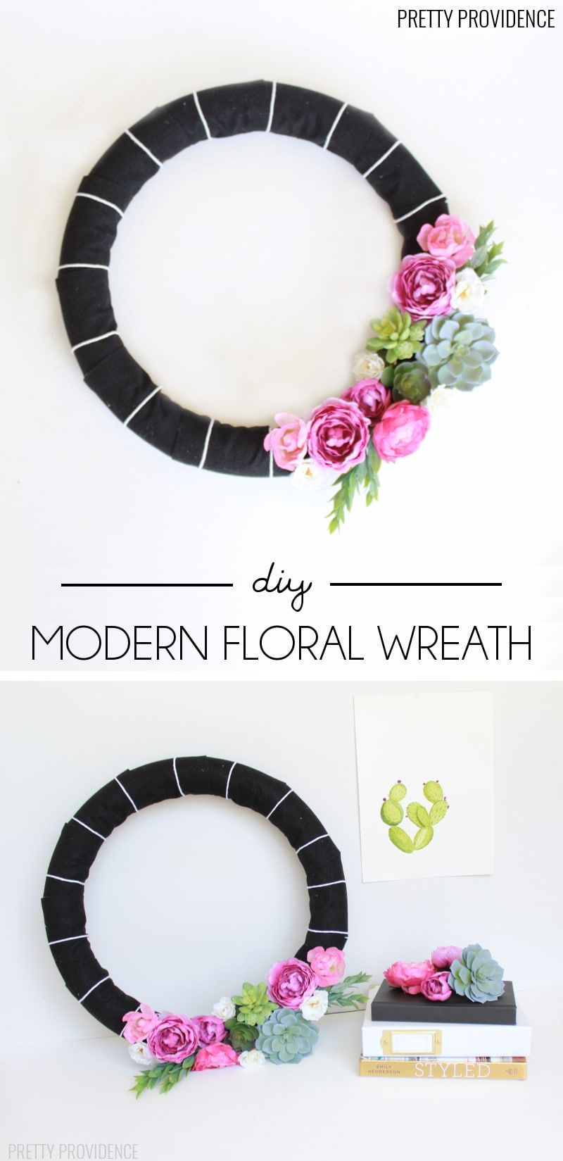 Photo of Modern Floral Wreath