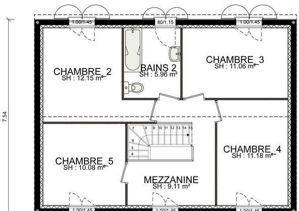 Maison - Marin - étage - Habitat Concept - 128000 euros - 120,7 m2 | Faire construire sa maison