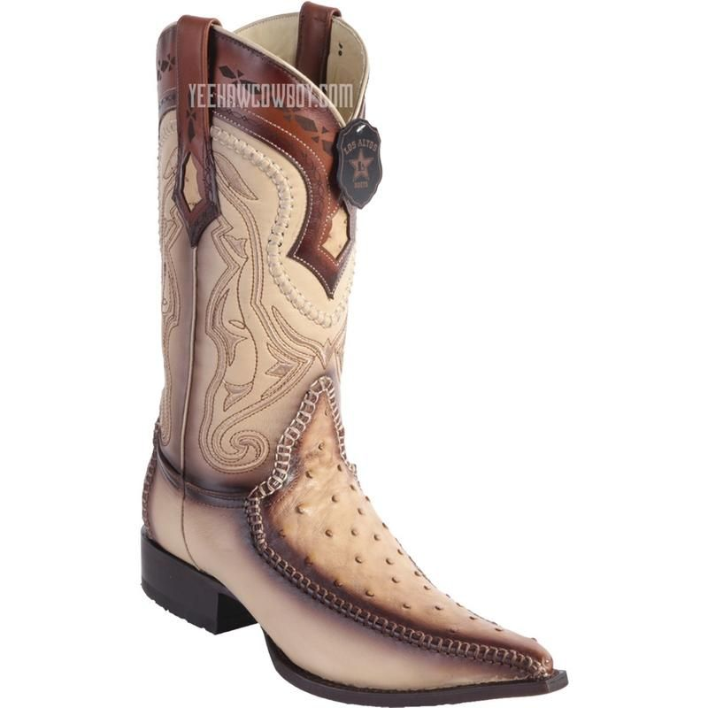 dd821d2ba53 Men's Los Altos Ostrich Boots With Deer 3x Toe Handcrafted in 2019 ...