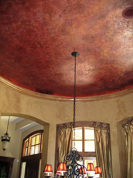 Uplit Metallic Tray Dramatic Copper Ceiling Painted Ceiling Colored Ceiling