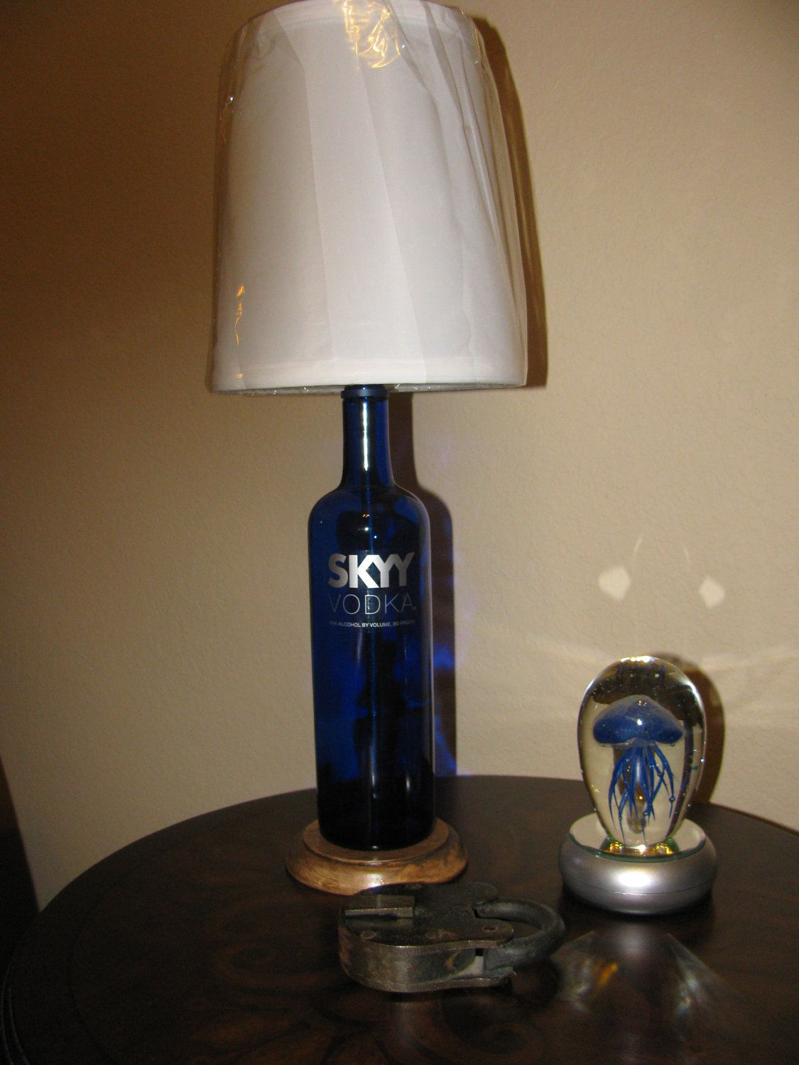 Table lamp harp sizes - Skyy Vodka Bottle Table Lamp With Harp Finial