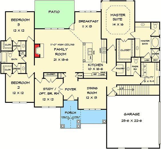 Plan 36054dk Corner Lot Craftsman House Plan Floor Plans Craftsman House Plan House Plans