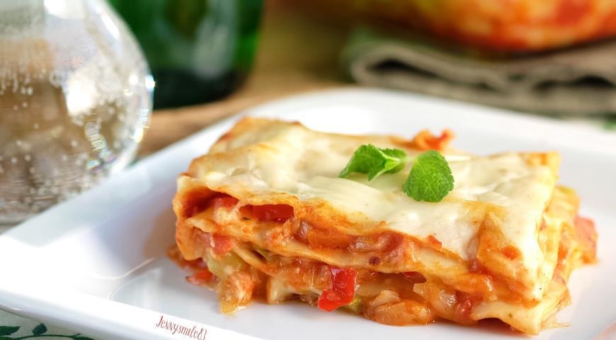 как делается лазанья овощная рецепт с фото