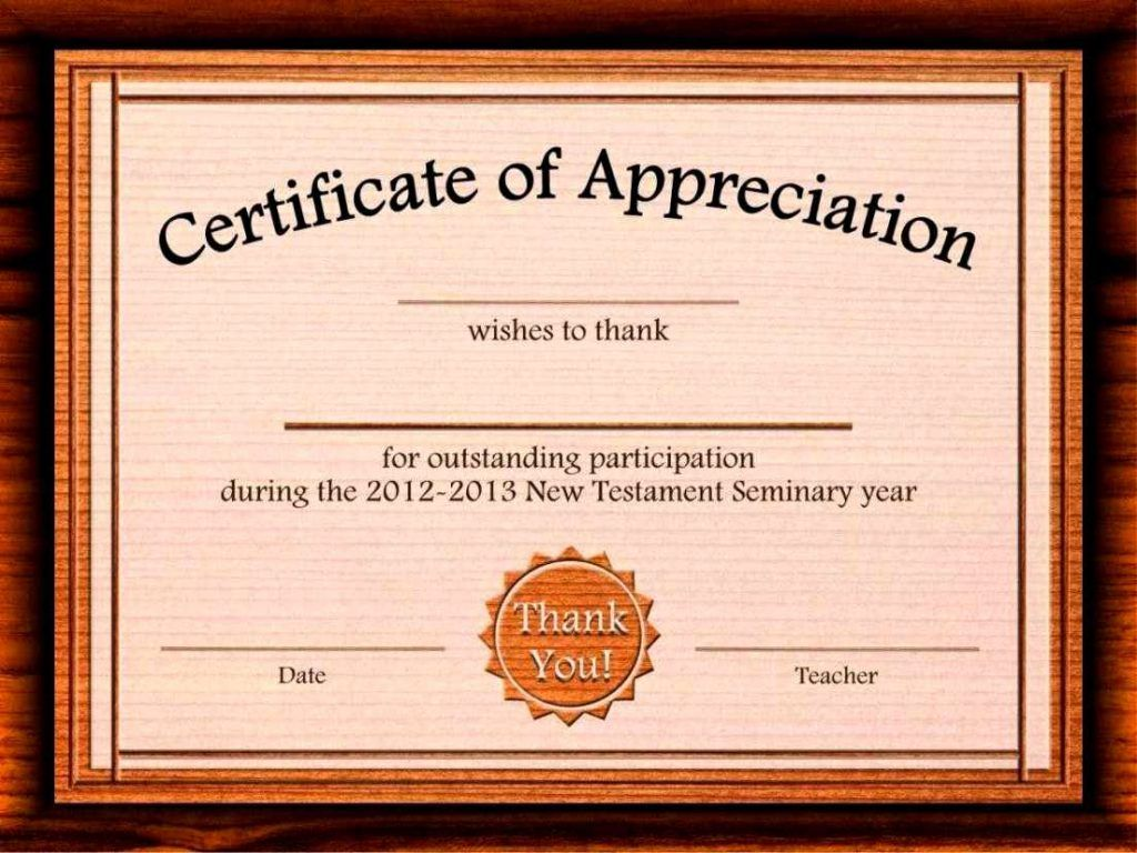 certificate of appreciation templates publisher