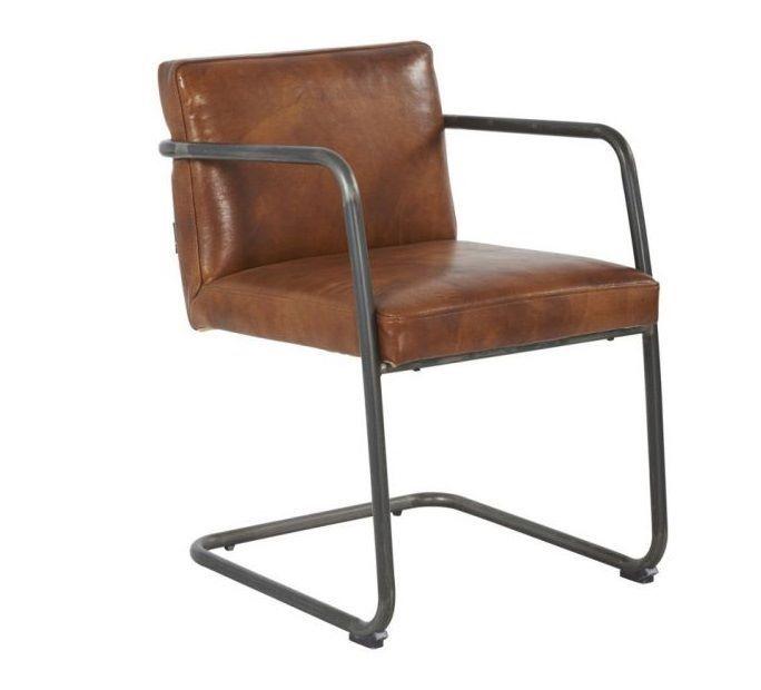 Chaise De Bureau Vintage Fauteuil Bureau En Cuir Marron Vintage Fremont Decostock Furniture Home Decor Chair