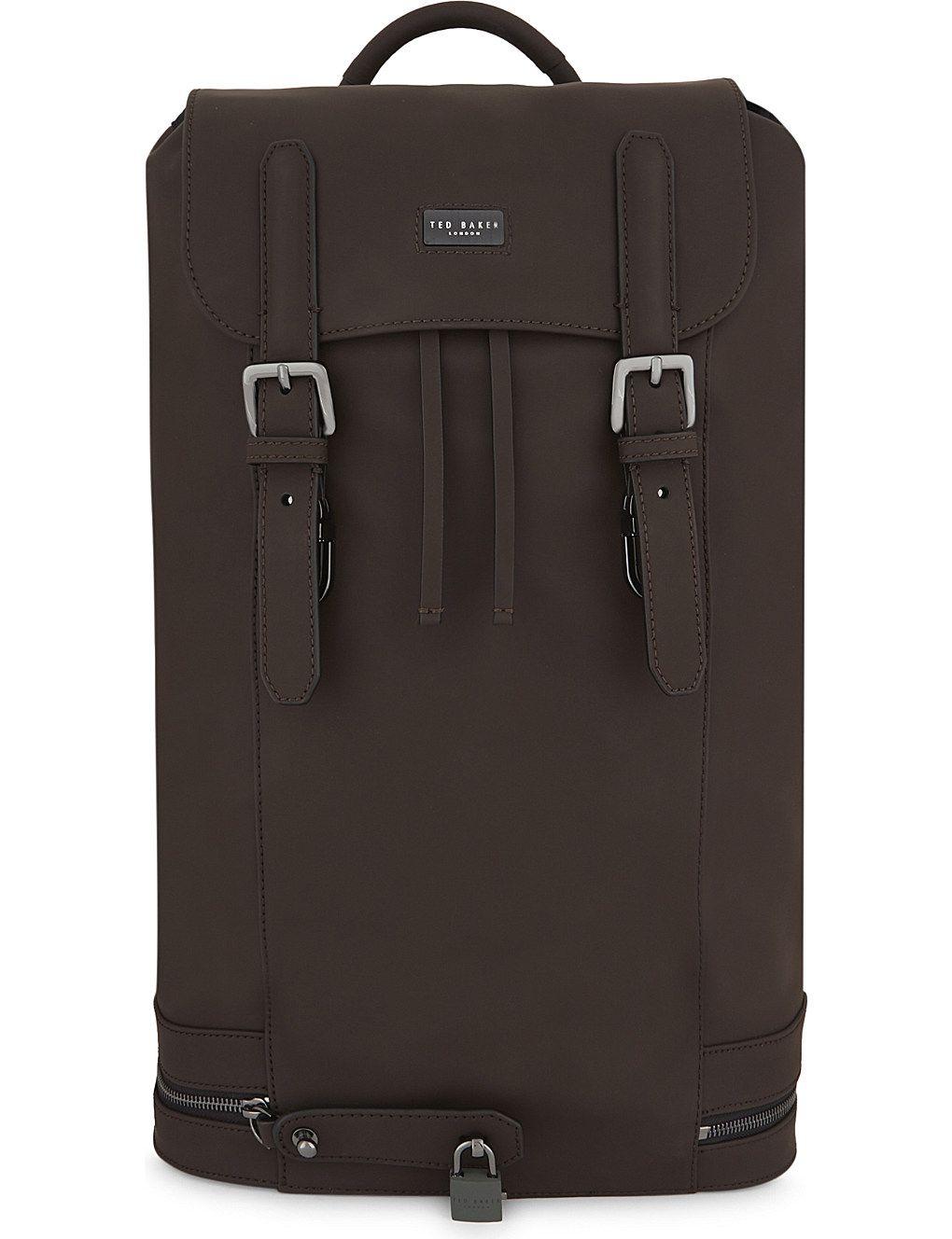 3e2302201307 TED BAKER - SADSAC leather backpack