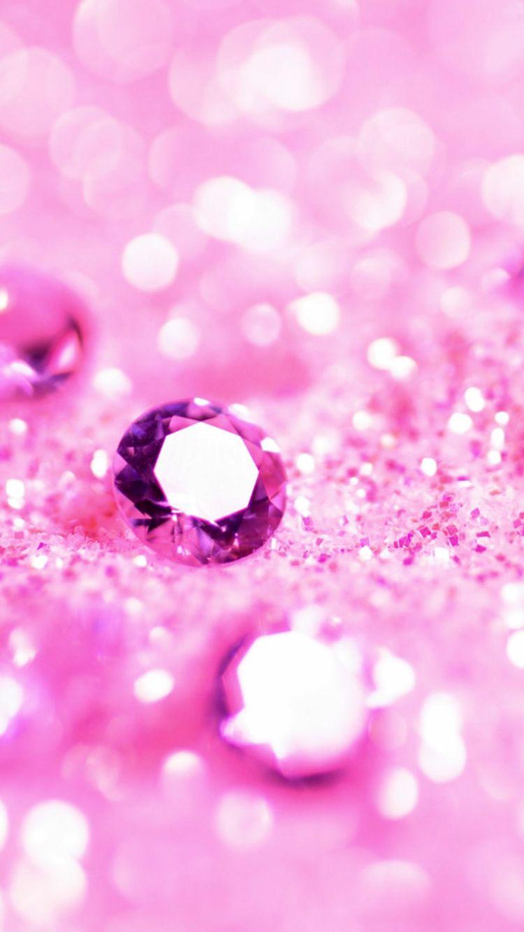 Pink Glitter Diamonds Iphone Wallpaper Pink Diamond Wallpaper
