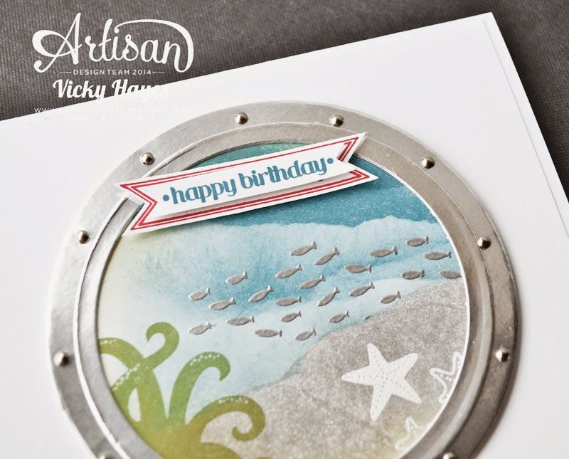Stampin' Up ideas and supplies from Vicky at Crafting Clare's Paper Moments: Sea Street - Stampin' Up Artisan blog hop