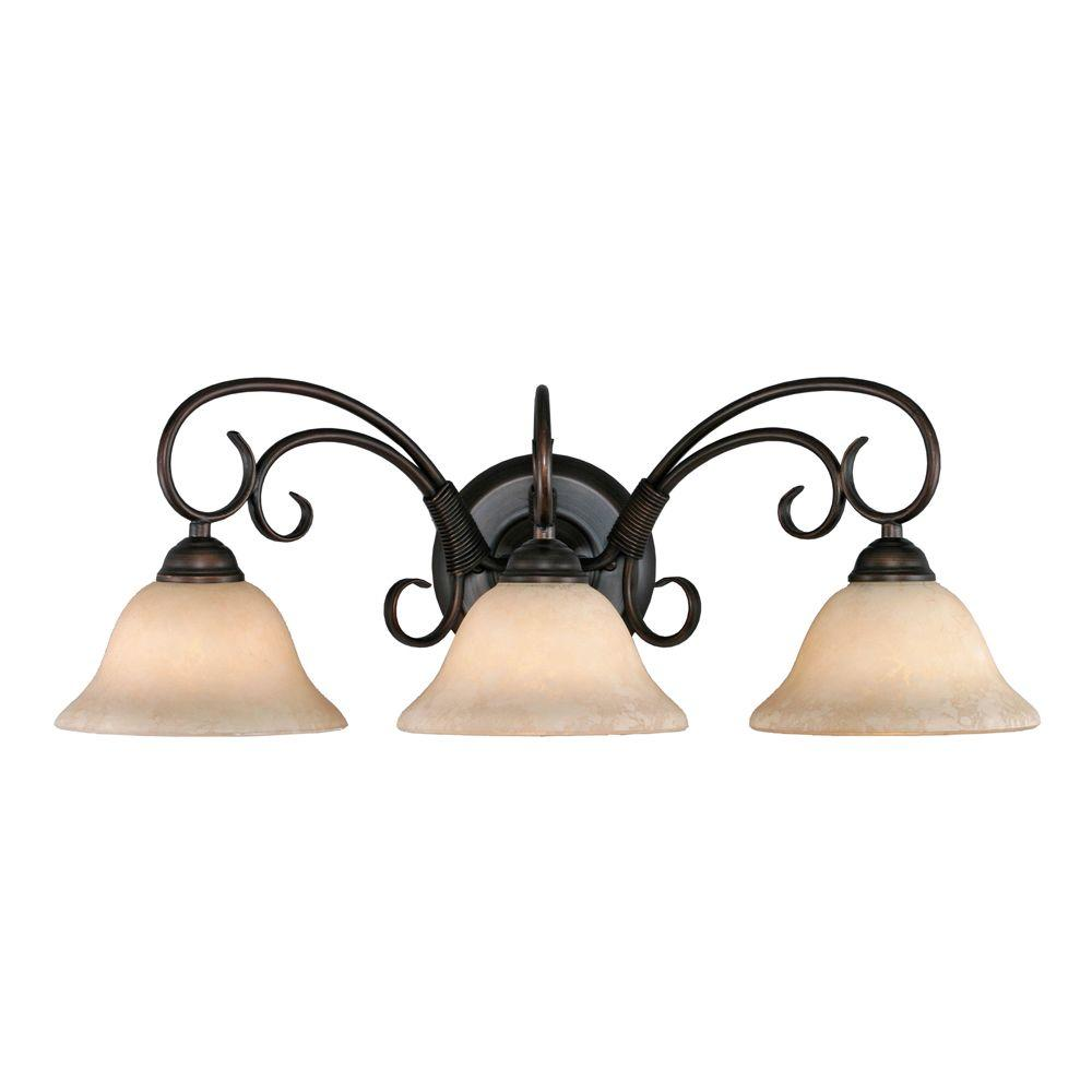 Golden Lighting Homestead Collection 3 Light Rubbed Bronze