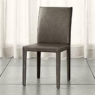 Folio Granite Grey Top Grain Leather Dining Chair
