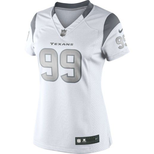 4a187850827 Nike JJ Watt Houston Texans Womens White Platinum Jersey My new BDAY jersey!  Already sported it!