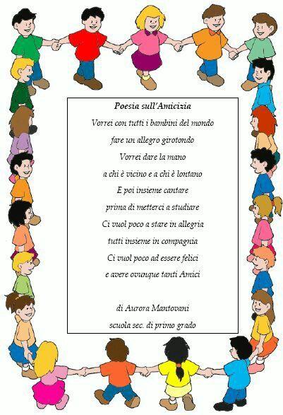 Poesia Sull Amicizia Poesie Nursery Rhymes E Nursery