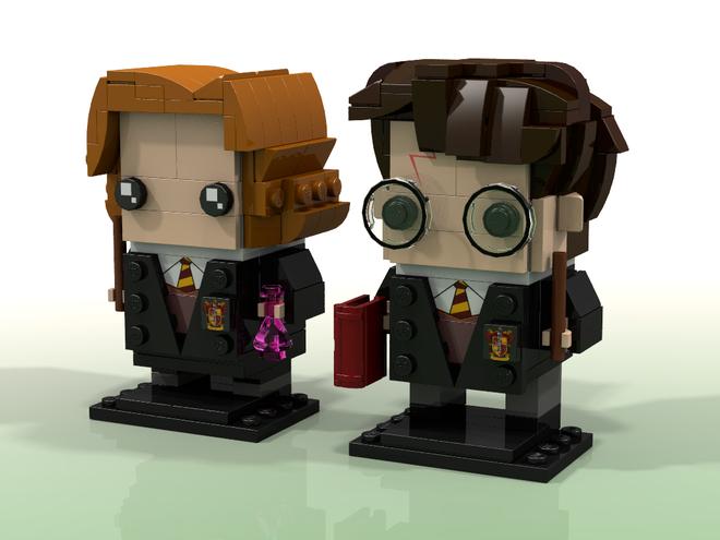 Harry Potter And Hermione Granger Brickheadz Harry Potter Lego Sets Lego Harry Potter Lego Harry Potter Moc