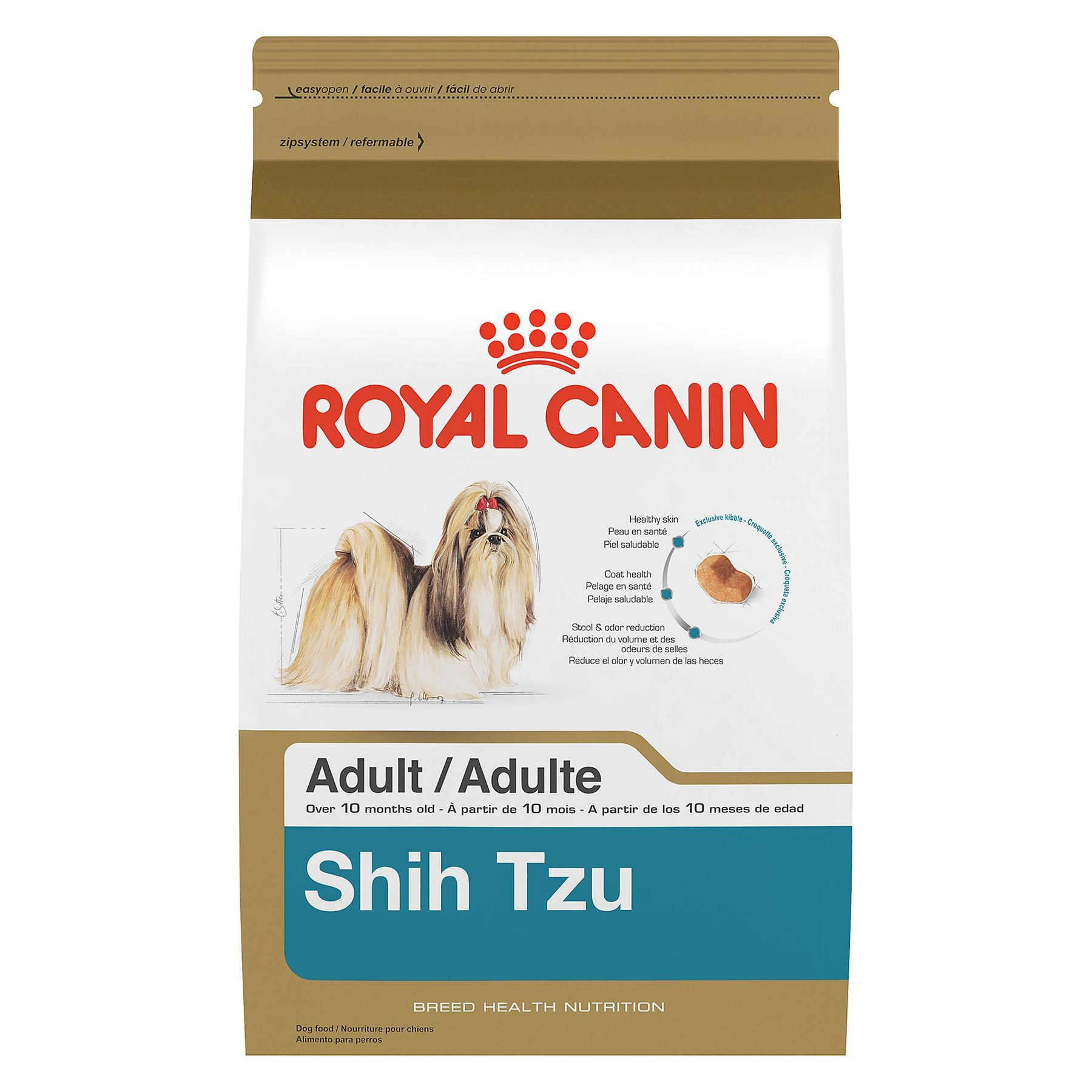 Royal Canin Breed Health Nutrition Shih Tzu Adult Dog Food Size