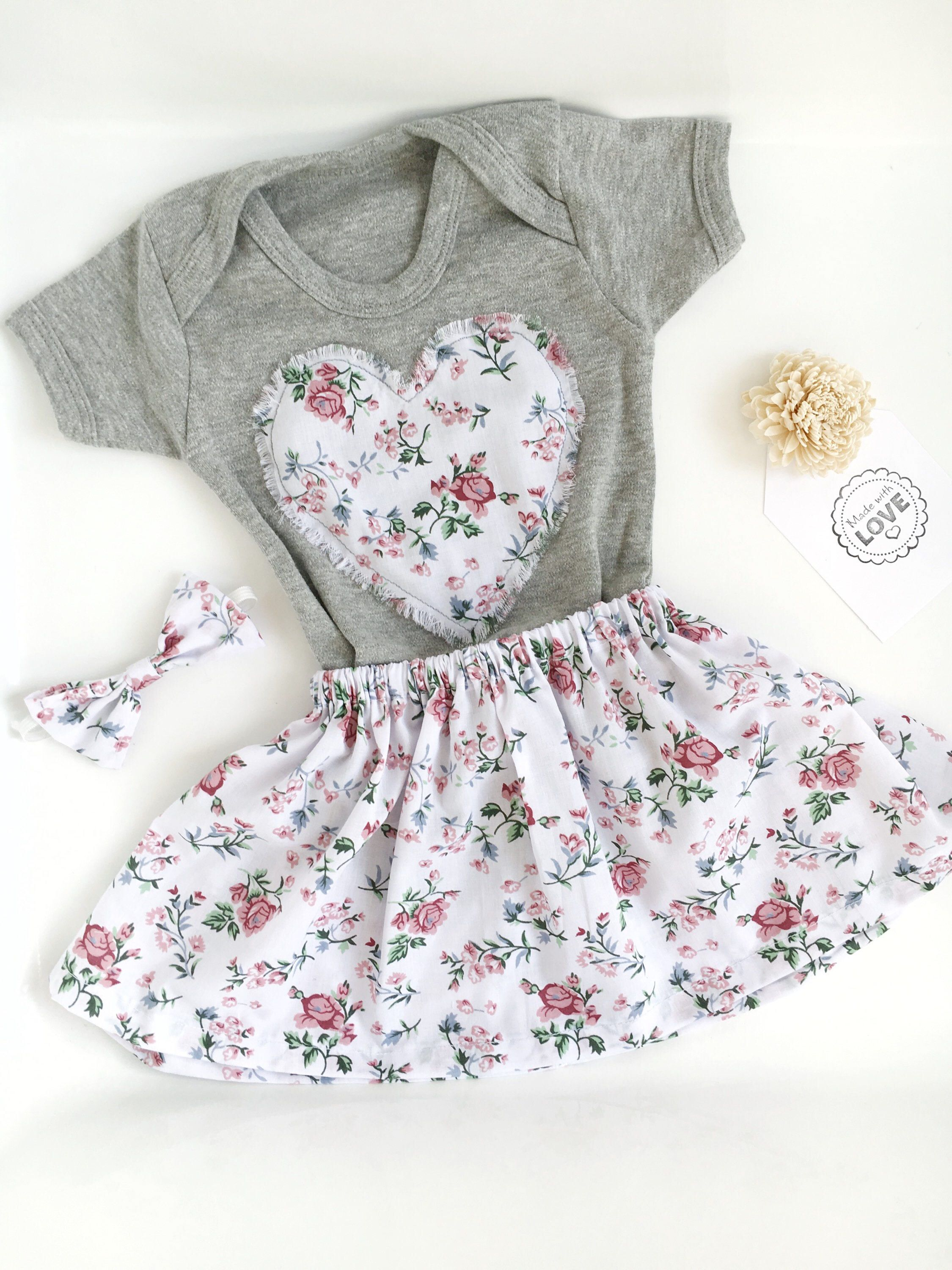 Baby Girl Outfit Baby Grow Outfit Floral Baby Girl Outfit Boho