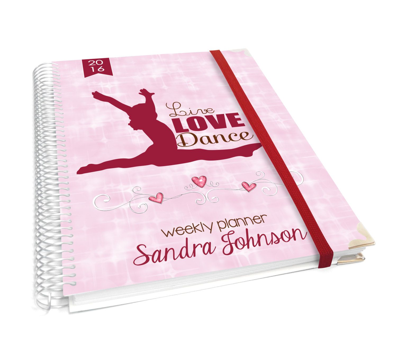 Personalized Planner  Pink Dance Studio Theme Planner