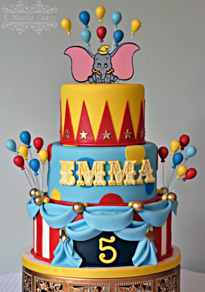circus theme cake with dumbo by k noelle cake cakes by. Black Bedroom Furniture Sets. Home Design Ideas