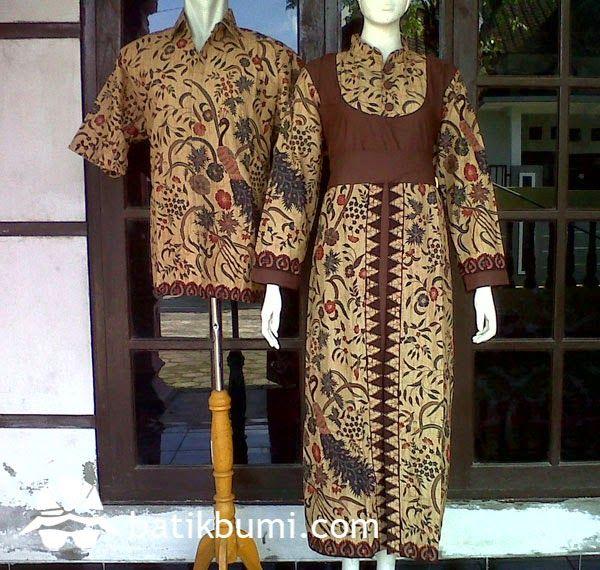 Dress Batik Gamis Dengan Model Kerah Shanghai Lengan Panjang