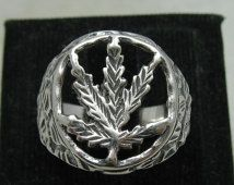 R001164 Sterling Silver Ring Solid 925 Cannabis