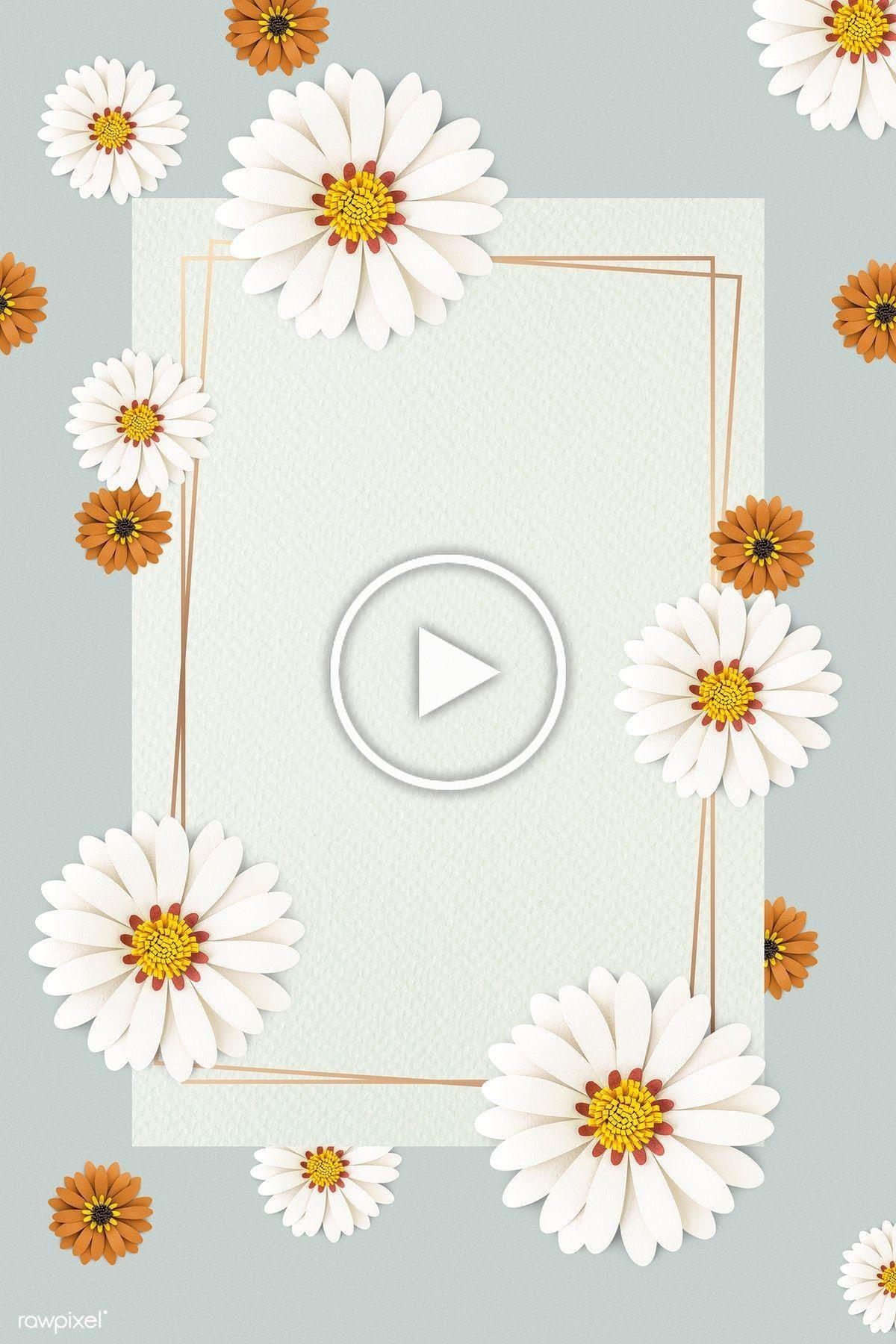 White paper craft daisy flower on light blue background