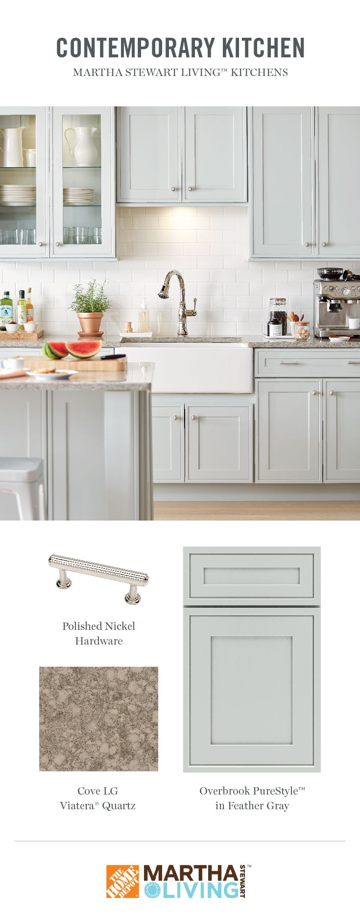 The Slender Framing Detail In Overbrook S Door Design Creates The Look Of An Impeccabl Redo Kitchen Cabinets New Kitchen Cabinets Martha Stewart Living Kitchen