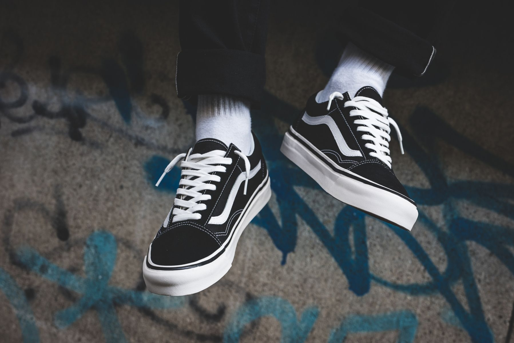 Vans Old Skool 36 DX (schwarz weiß) | Vans old skool, Vans