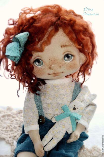 Коллекционные куклы ручной работы. Ярмарка Мастеров - ручная работа. Купить Ангелина. Handmade. Морская волна, интерьерная кукла: