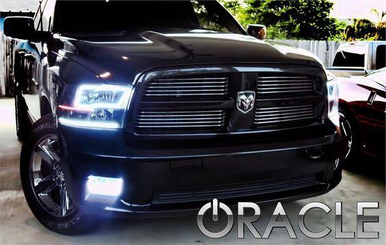 Sport Quad 2009 2010 2011 2012 Dodge Ram 1500 2500 3500 Oracle Smd Led Headlight Halo Kit Cust Dodge Trucks Ram 2012 Dodge Ram 1500 Dodge Ram 1500 Accessories