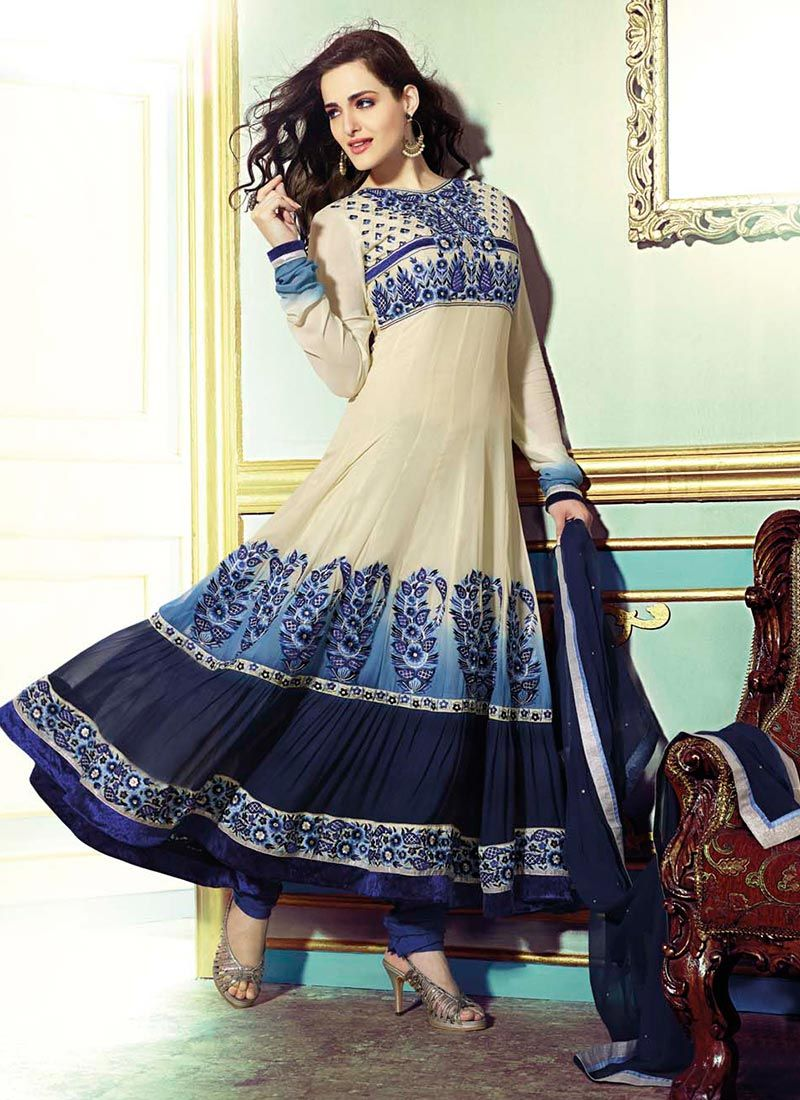 Latest suits anarkali suits and cream