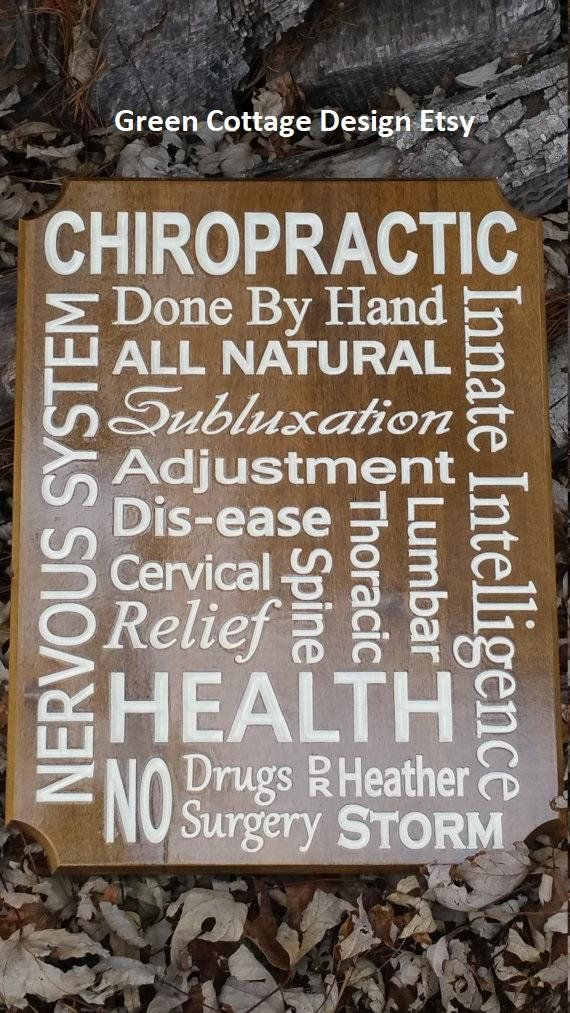 Chiropractic Art Wood Chiropractor Gift Sign Office Personalized ...