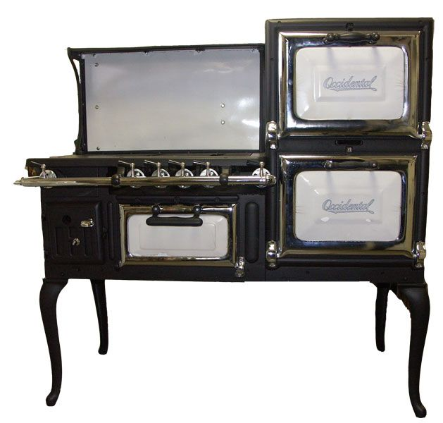 from the 1920 39 s this unique occidental stove is 50 wide with 4 burners and oven and a. Black Bedroom Furniture Sets. Home Design Ideas