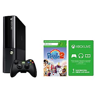 Consola Xbox 360 4gb+Peggle+Live 1 Mes