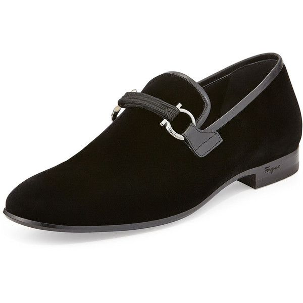 834460449b6bc these are mens dress shoes. Salvatore Ferragamo Party Velvet Gancini Loafer  ($725) ❤ liked on Polyvore…